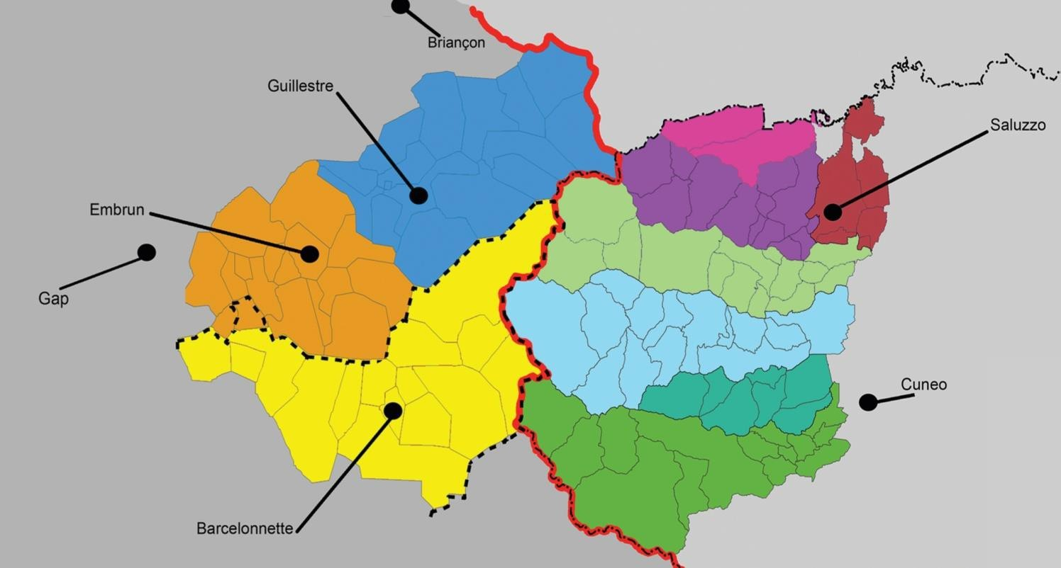 Carte Terres Monviso