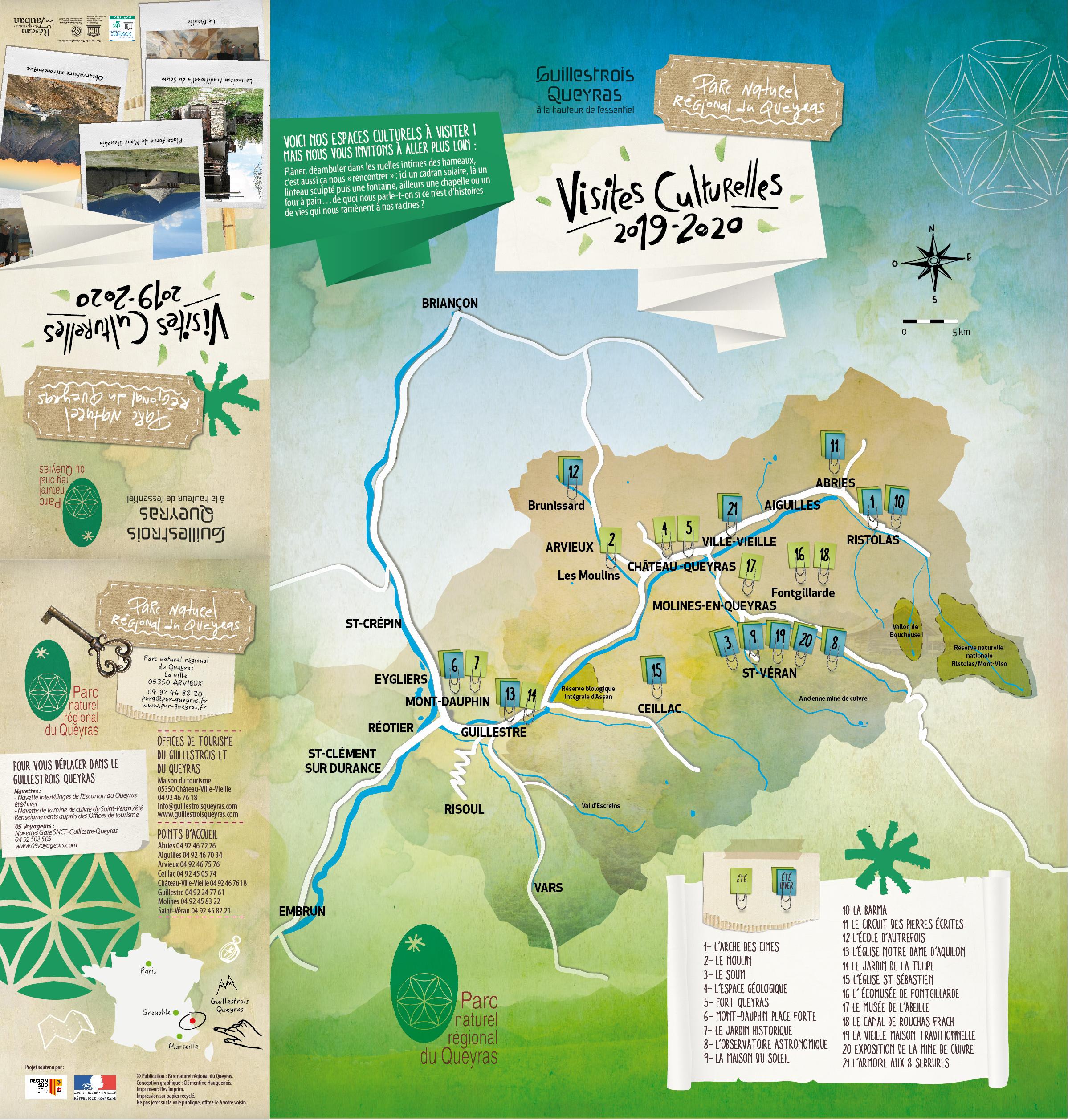 Carte Touristique Du Queyras.Espaces Museographiques Du Parc Parc Naturel Regional Du